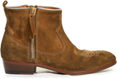 Golden Goose Deluxe Brand Anouk Western distressed-suede ankle boots