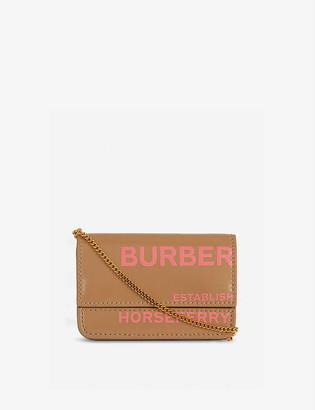Burberry Jody Horseferry logo leather card holder