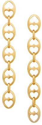 Kate Spade Goldplated Duo Heart Link Linear Earrings
