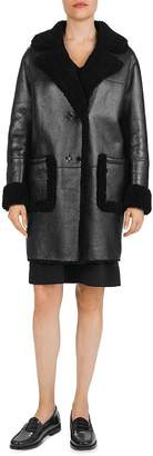 Gerard Darel Andree Reversible Shearling Coat