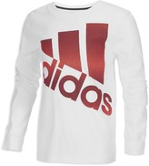 adidas Boys' Future Stripe Logo Tee