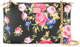 Dolce & Gabbana floral print chain clutch - women - Leather - One Size