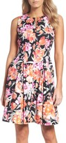 Chetta B Women's Floral Fit & Flare Dress