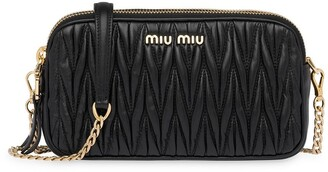 Miu Miu Matelasse Leather Mini-Bag