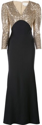 Sachin + Babi Sequin Embroidered Gown