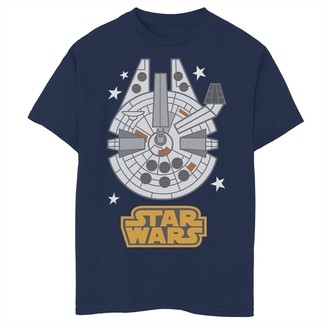 Licensed Character Boys 8-20 Star Wars Falcon Emoji Tee