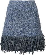 Spencer Vladimir - fringed mini skirt - women - Cotton/Polyamide/other fibers - S