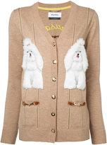 Muveil appliqué dog cardigan - women - Acrylic/Nylon/Polyester/Wool - 38