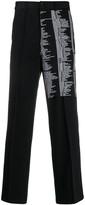 Yang Li script print tailored trousers