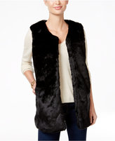 INC International Concepts Long Collarless Vest, Only at Macy's