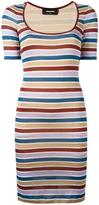 DSQUARED2 striped fitted dress