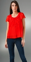 Pleated Short Sleeve Top