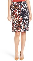 BOSS Women's 'Vilea 1' Abstract Print Pencil Skirt