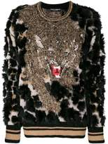 Dolce & Gabbana textured tiger sweater
