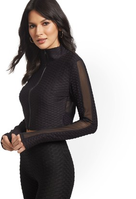 New York & Co. Cropped Mesh Cut-Out Jacket