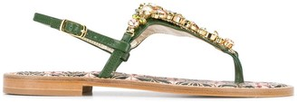Emanuela Caruso embellished open-toe sandals
