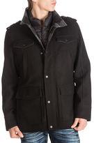 Guess Textured Wool Blend Coat