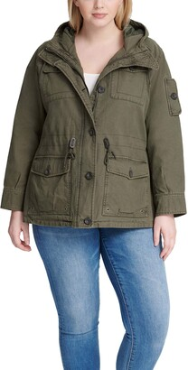 Levi's Women's Plus Size Cotton Four Pocket Hooded Field Jacket