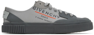 Givenchy Grey Logo Tennis Sneakers
