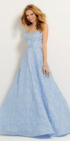 Camille La Vie Rose Brocade Ballgown Prom Dress