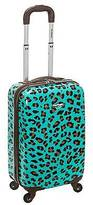 "Rockland Sonic 20"" Carry On Luggage Set - Blue Leopard"