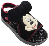 Disney Toddler Boys' Mickey Mouse Footbed Sandals - Black
