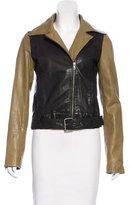 Derek Lam 10 Crosby Colorblock Leather Jacket