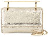M2Malletier Fabricca Mini Metallic Textured Satchel Bag, Gold