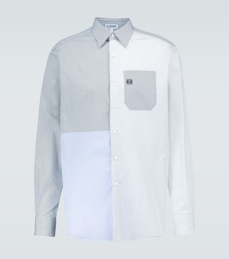 Loewe Checked patchwork cotton shirt