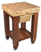 John Boos American Heritage Prep Table with Butcher Block Top Base Finish: Alabaster White