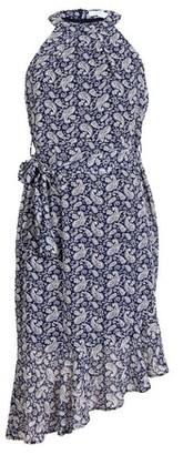 Dorothy Perkins Womens *Blue Vanilla Navy Paisley Print Asymmetric Skater Dress, Blue