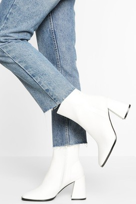 boohoo Wide Fit Square Toe Sock Boot