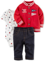 Carter's 3-Pc. Cotton Varsity Jacket, Bodysuit & Jeans Set, Baby Boys (0-24 months)