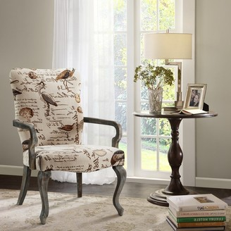 Madison Home USA Joni Ivory Multi Goose Neck Arm Chair
