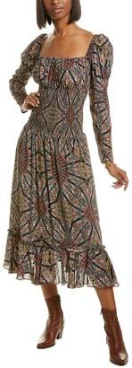 Nicole Miller Silk-Blend Maxi Dress