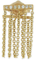 Sydney Evan Bar Chain Single Stud Earring w/Pavé Diamonds