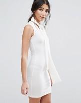 Glamorous Bodycon Dress With Tie Neck