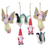 Wood ornaments (Set of 6), 'Christmas in Bali'