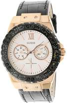 GUESS U0775L9 Rose-Gold Leather Japanese Quartz Fashion Watch