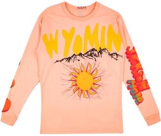 Yeezy Wyoming-print T-shirt