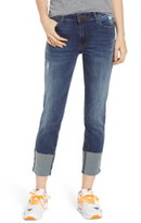 KUT from the Kloth STS Blue Lucia Cuffed Straight Leg Jeans