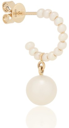 Sophie Bille Brahe Marco Perle 14kt gold single earring with pearls