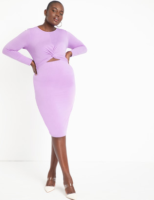 ELOQUII Twist Front Dress