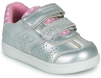 Geox B DJROCK FILLE boys's Shoes (Trainers) in Silver