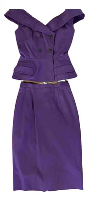 Christian Dior Purple Cotton - elasthane Dresses