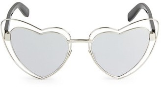 Saint Laurent Novelty 57MM Heart Sunglasses