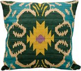 Kathy Ireland Home® by Gorham Clover Ikat Square Throw Pillow
