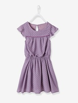 Vertbaudet Girls Draping Printed Dress