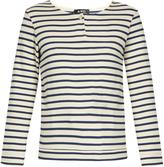A.P.C. Veronica breton-striped cotton top
