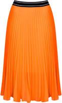 Sports waistband pleat midi skirt